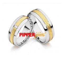 Alianças de Noivado e Casamento em Ouro 18k e Prata - ALM523 Cufflinks, Wedding Rings, Engagement Rings, Jewelry, Gold Wedding Rings, Steak, Enagement Rings, Jewels, Schmuck
