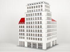 Hochhaus am Albertplatz, Dresden Architektur mit LEGO | Architecture with LEGO bricks.