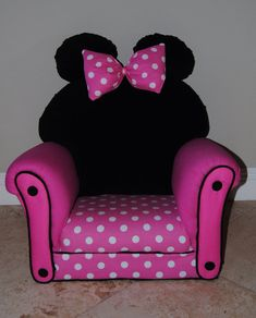 Minnie Mouse Kid Chair on Etsy!
