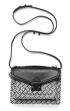 loeffler randall black flap bag