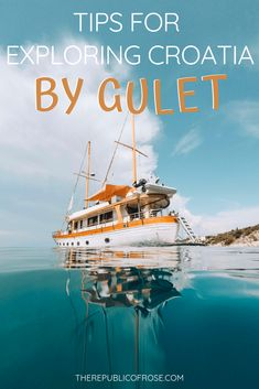 Croatia has over islands and one of the best ways to see them is by chartering a gulet. Here are my tips for exploring Croatia by gulet! Europe Destinations, Europe Travel Guide, Amazing Destinations, Travel Guides, Travel Deals, Travel Hacks, Budget Travel, Cool Places To Visit, Places To Go