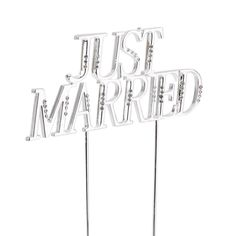 Wilton Wedding Silver Bridal Just Married Cake Pick Topper >>> Check out this great image @ : baking decorations