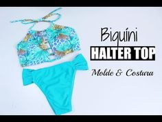 DIY- BIQUÍNI HALTER TOP COM BOJO-MOLDE E COSTURA//DAYSE COSTA - YouTube