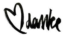 """Brush lettering practice """"Danke"""" (with Pentel Pocket Brush)"""