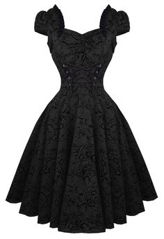 Hearts & Roses Rockabilly Retro Pin Up Charmant Black Dress 50s in Clothing, Shoes, Accessories, Women's Clothing, Dresses   eBay
