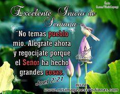 versículos bíblicos de bendición DE INICIO DE SEMANA   Inicio De Semana Alegrate Pueblo Mio Imágenes Cristianas Inicio ...