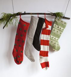 Christmas stocking filled with surprises. Update the idea like we do.  It means more gifts, but why not choose an item that will come back year after year?
