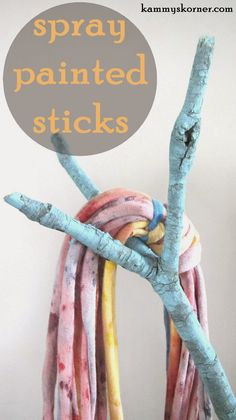 Fun Idea for a store or Craft Show Display. Spray painted sticks
