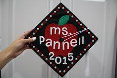 Future-teacher college graduation cap