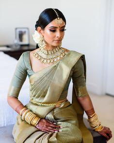 Bridal Dupatta, Bridal Silk Saree, South Indian Sarees, South Indian Bride, Tamil Wedding, Saree Wedding, Indian Bridal Outfits, Indian Dresses, Tamil Brides