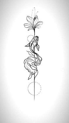 tattoos tattooart design art artwork tattooart ink tattoosforwomen fish … – Tattoo, Tattoo ideas, Tattoo shops, Tattoo actor, Tattoo art - New Site Kunst Tattoos, Paar Tattoos, Irezumi Tattoos, Tattoo Drawings, Tattoo Sketches, Art Sketches, Mini Tattoos, Foot Tattoos, Body Art Tattoos