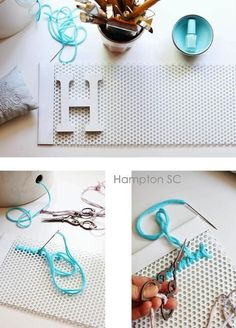 DIY: cartel bordado HOME