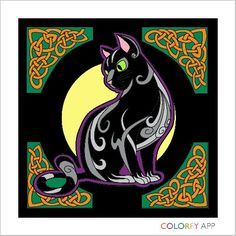 Mystical Celtic Kitty (Colorfy)
