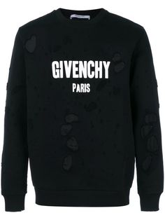 Givenchy distressed logo sweatshirt