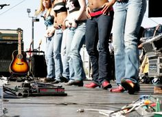 Coyote Ugly makes an appearance during the 2006 CMT Music Awards Block Party April 10 2006 Nashville Tennessee