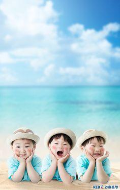 Daehan, Minguk and Manse Superman Kids, Superman Family, Pink And Gold Wallpaper, Man Se, Song Triplets, Song Daehan, Baby Corner, Korean Babies, Precious Children