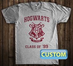 Hogwarts Alumni Class of Custom T-Shirt Harry by ShirtAntics