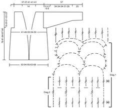 """DROPS 90-15 - Casaco comprido DROPS em croché em """"Ice"""", com orla de abotoamento em tricô - Free pattern by DROPS Design"""