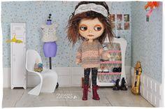 knit doll blythe jumper sweater top pattern tuto diy