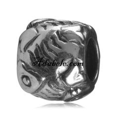 This beautiful fish ball .925 Sterling Silver European charm fits Pandora, Biagi Trollbeads, Chamilia, and most charm bracelets find out more at adabele.com