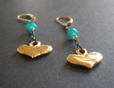 Hey, I found this really awesome Etsy listing at https://www.etsy.com/listing/255268423/gold-heart-earrings-long-swinging