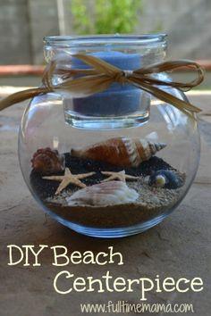 DIY Sand Candle Holder Home Decor- Beach Wedding Centerpiece