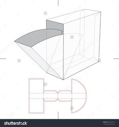 Box With Take One Flop And Blueprint Layout Stock Vector Illustration 344297951 : Shutterstock Paper Gift Box, Diy Gift Box, Diy Box, Packaging Dielines, Tea Packaging, Cardboard Crafts, Paper Crafts, Paper Box Template, Creative Box