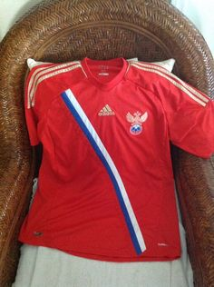 adidas russia national team red soccer jersey size l mens in sports mem cards