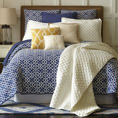 Who said beds can't be fun? No one, actually, but they can always be <i>more</i> fun with Reece bedding. One side of its 100% cotton voile shell is a solid, vibrant color. The other features a striking geometric print. Generously sized, the quilt's soft, 100% cotton fill provides the comfort any season of the year.