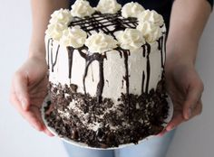 Looking for the ultimate oreo cake? This cake has it all: ice cream, oreos, and layers of fudgy brownie goodness!