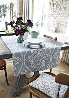 The Nomad Fabric Collection by Prestigious Textiles was designed to excite the hidden traveller inside the heart of any home-bound person! Decor, Furniture, Prestigious Textiles, Fabric, Rustic Style, Distressed Walls, Home Decor, Fabric Collection, Dining Table