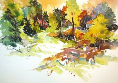 Rees Painting - Quiet Forest Interlude by Rae Andrews