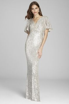 Find the perfect Teri Jon cocktail dresses and evening gowns for the mother of the bride. Try our lace dresses, tea length dresses, dresses with sleeves, and other styles to feel like the young and beautiful mother of the bride that you are. Mother Of Groom Dresses, Mother Of The Bride, Bride Dresses, Mothers Dresses, Sequin Gown, Beaded Gown, Gold Sequin Shorts, Black Tie Attire, Taffeta Skirt