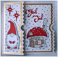 carte noel Velkommen inn: 2 Julekort til. Cute Christmas Cards, Christmas Card Crafts, Homemade Christmas Cards, Christmas Drawing, Christmas Scrapbook, Xmas Cards, Homemade Cards, Handmade Christmas, Holiday Cards