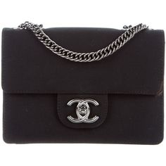 Pre-owned Chanel Grosgrain Mini Flap Bag (9021800 PYG) ❤ liked on Polyvore featuring bags, handbags, chanel, black, mini bag, miniature purse, mini hand bags, man bag and chanel purse
