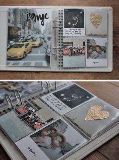 Para o álbum de viagem do Cruzeiro. A página da esquerda pode ser a forma de apresentar cada uma das cidades que visitámos! Foto A4 com o nome! MADE BY CAY   a creative blog #modernscrapbooking #projectlife #madebycay