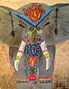 Parade Elephant - original by Cocktails 'n Canvas local artist Satin Bina
