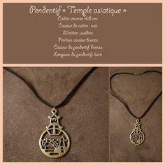 """Collier """"Asie """" couleur bronze , collier d'environ 45 cm de long . : Pendentif par fabienne-botte"""