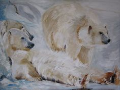 Items similar to Polar Bears on Etsy Coca Cola Bear, Polar Bear, Bears, Artist, Paintings, Etsy, Memories, Animals, Amazing