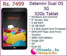 Datamini Dual OS 32Gb 3G Tablet Rs 7499