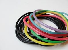 Vintage 80s Rubber Jelly Bracelets Rainbow by SalvagedLoveVintage