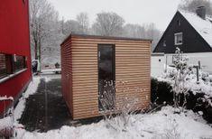 Haus für Geräte mit flachen Dach