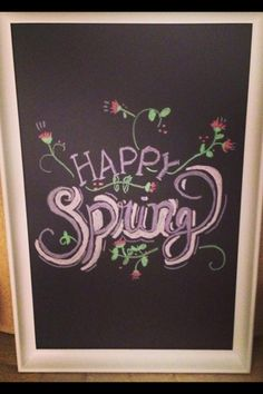 Spring chalkboard art