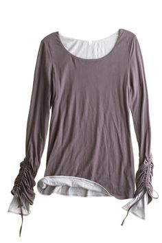 Brenda Ruched Sleeve Tee, beautiful, dyt type 2