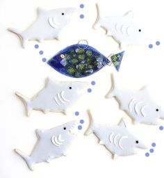 Fun Cookies, Marine Life, Cookie Decorating, Cookie Cutters, Party Themes, Sea, Desserts, Animals, Dog