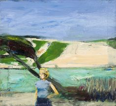 """Richard Diebenkorn (USA 1922-1993) Landscape with Figure (1963) """