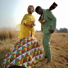 Image may contain: 1 person, standing and outdoor African Print Wedding Dress, African Print Dress Designs, African Wedding Attire, African Print Dresses, African Attire, African Dress, African Traditional Wedding Dress, African Fashion Traditional, Latest African Fashion Dresses