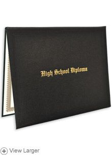 High School Diploma Case With Personalized Certificate