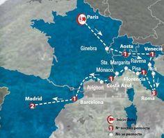 Oferta de viaje a Francia. Entra, informate y reserva el viaje Circuito de 14 dias Panorama Europeo con inicio en Paris y Final en Madrid
