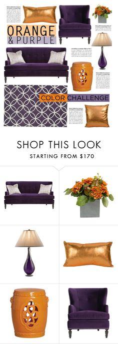 """Color Challenge: Orange & Purple"" by kathykuohome ❤ liked on Polyvore featuring interior, interiors, interior design, home, home decor, interior decorating, CC, colorchallenge and orangeandpurple"